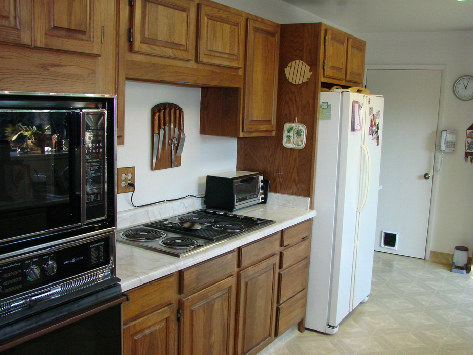beautiful Galley Kitchen Remodels Before And After #3: Our kitchen had been remodeled a couple years before we moved into our  Silicon Valley home 24 years ago. The demise of the microwave in the  attached oven ...