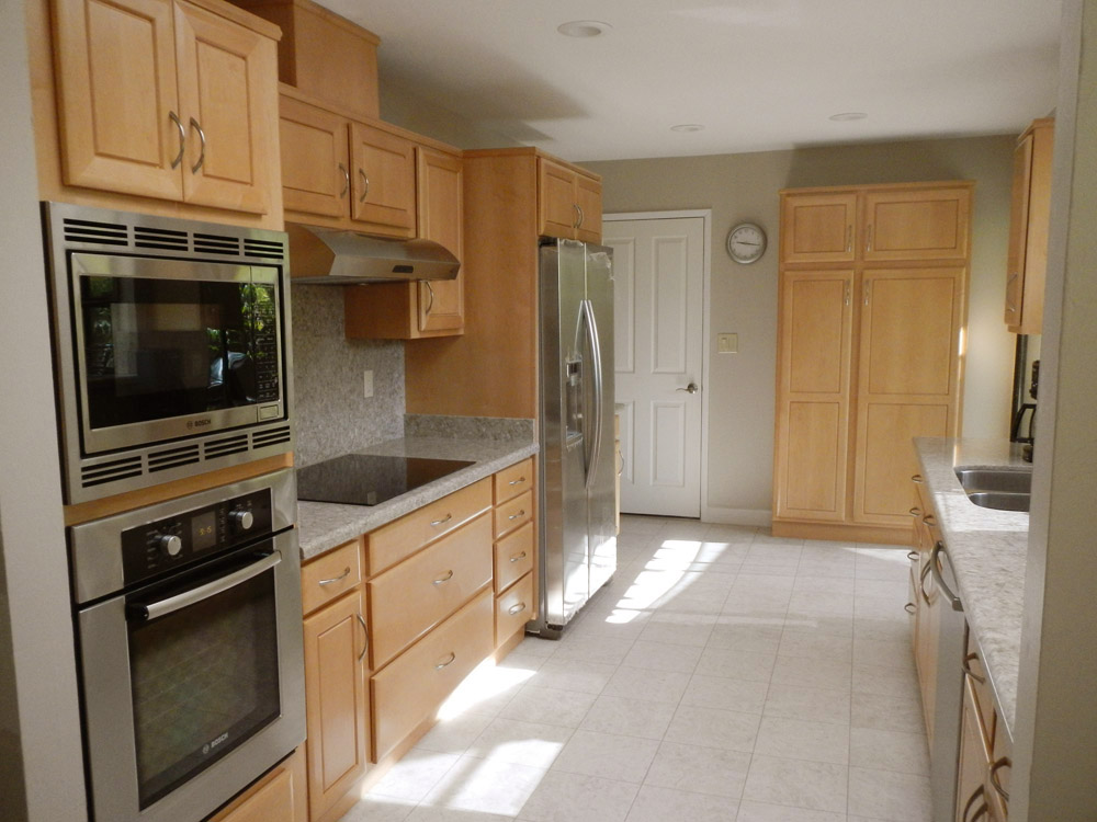 nice Galley Kitchen Remodels Before And After #4: Construction took about 4 weeks. We did most of our cooking in our  motorhome parked in our side yard but also had a small microwave and coffee  maker ...